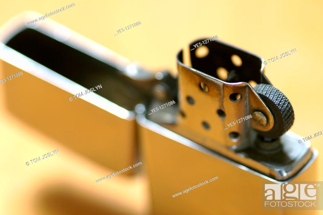 Stock Photo: Refillable lighter close up.