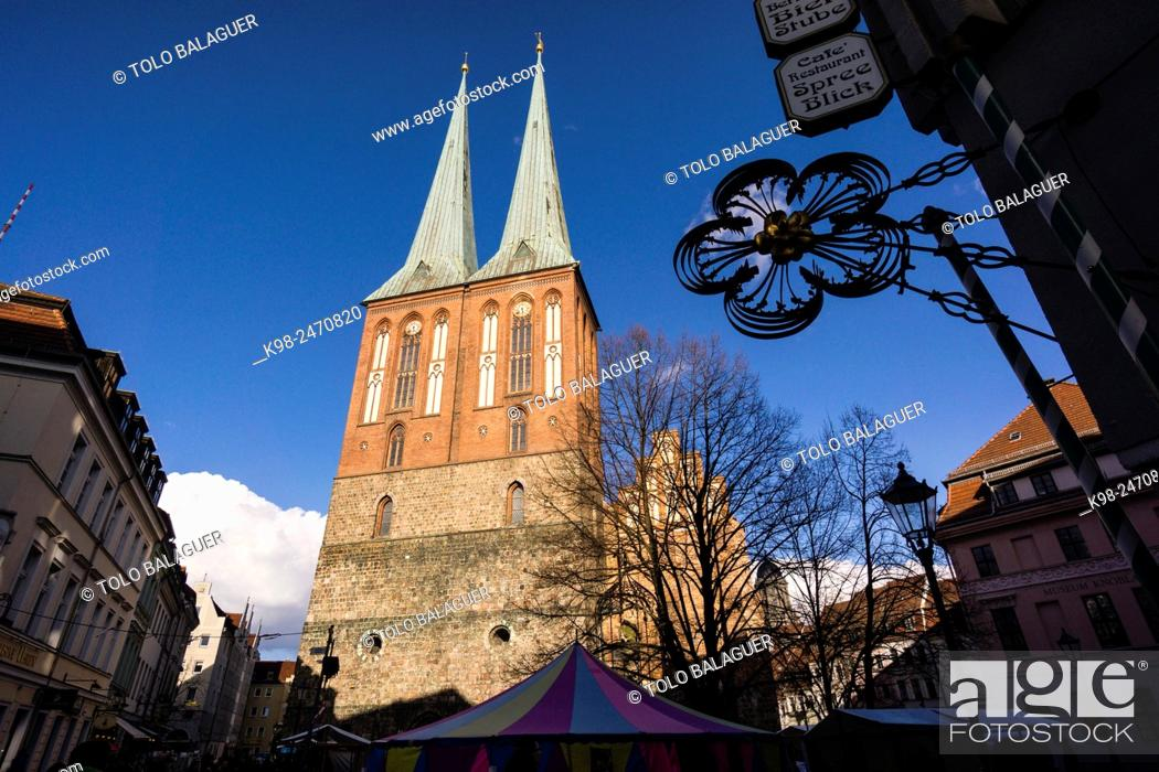 Stock Photo: iglesia de San Nicolas, siglo XIII, Berlin, Germany.