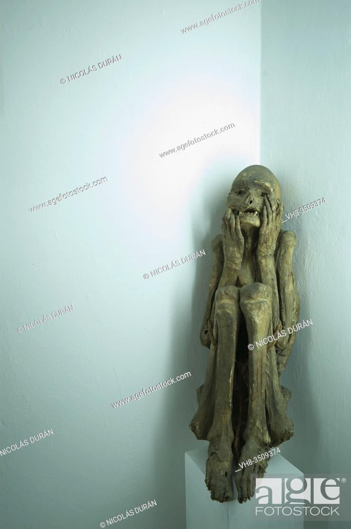 Stock Photo: Inca mummy. Huaraz Archaeological Museum. Ancash, Peru.