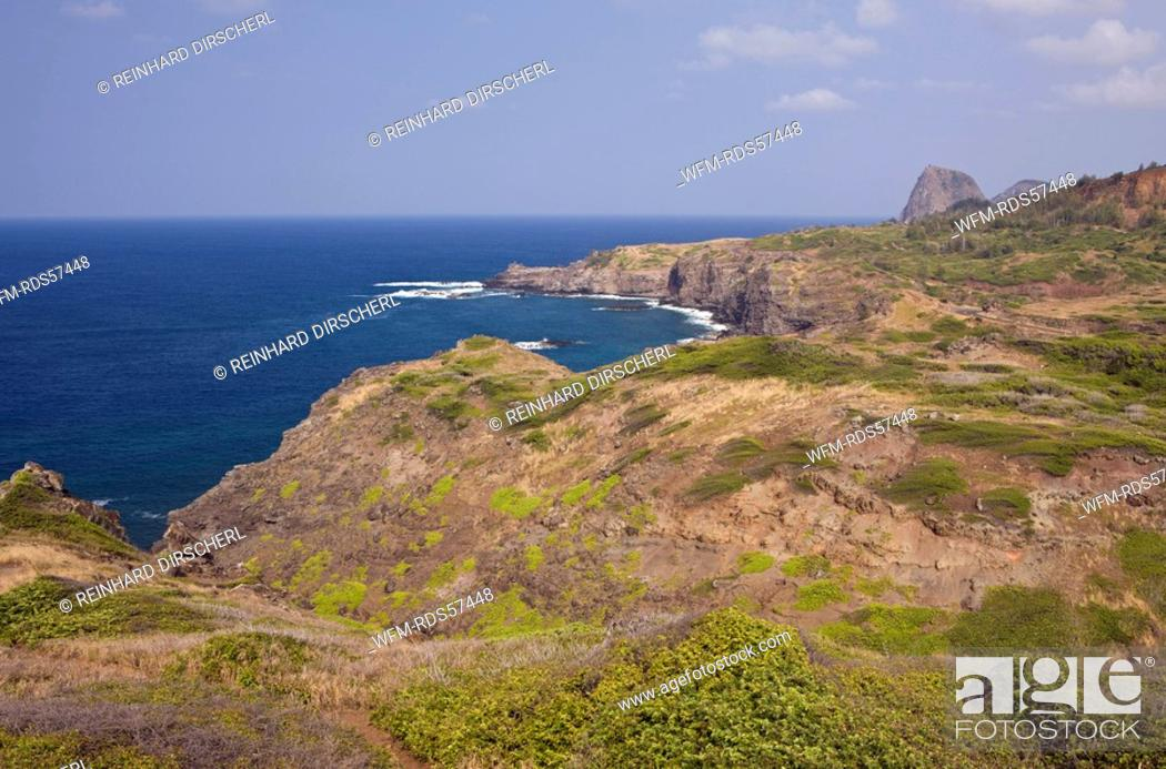 Stock Photo: Hawea Point at Northwest of Maui, Maui, Hawaii, USA.