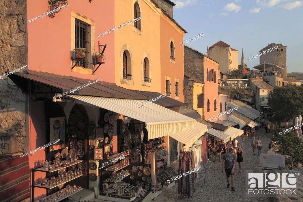 Stock Photo: Bosnia and Herzegovina, Mostar, Kujundziluk, Old Bazar, shops.