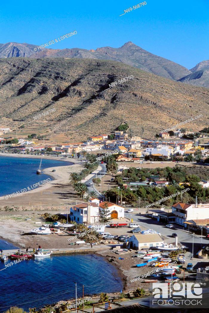 Stock Photo: La Azohia. Beach. Murcia province. Spain.