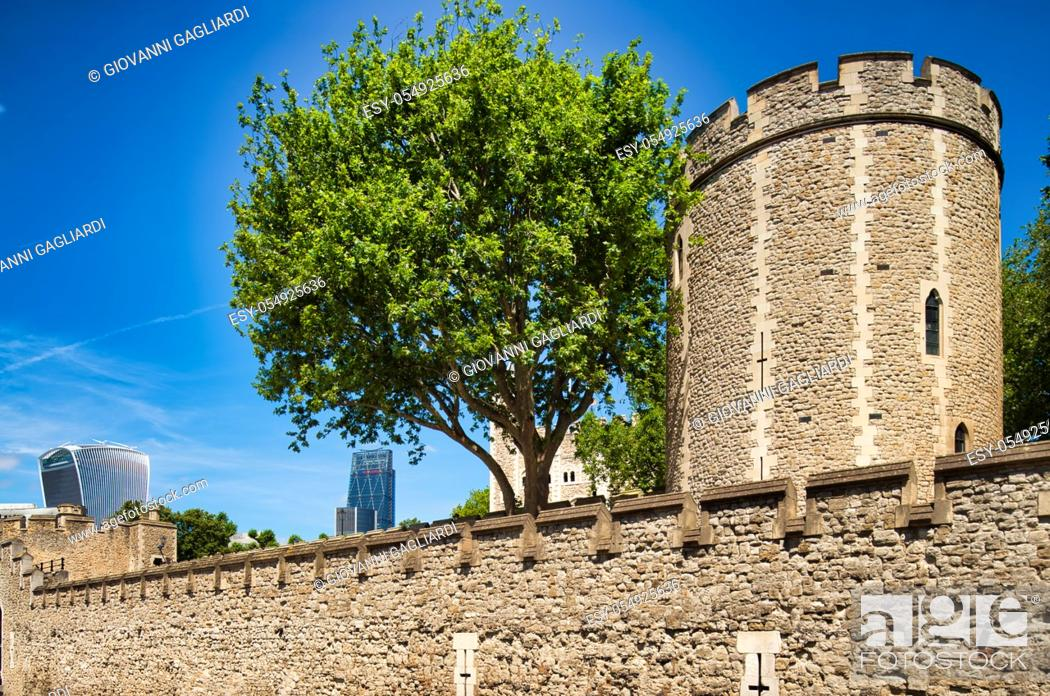 Stock Photo: Tower of London exterior view, London.