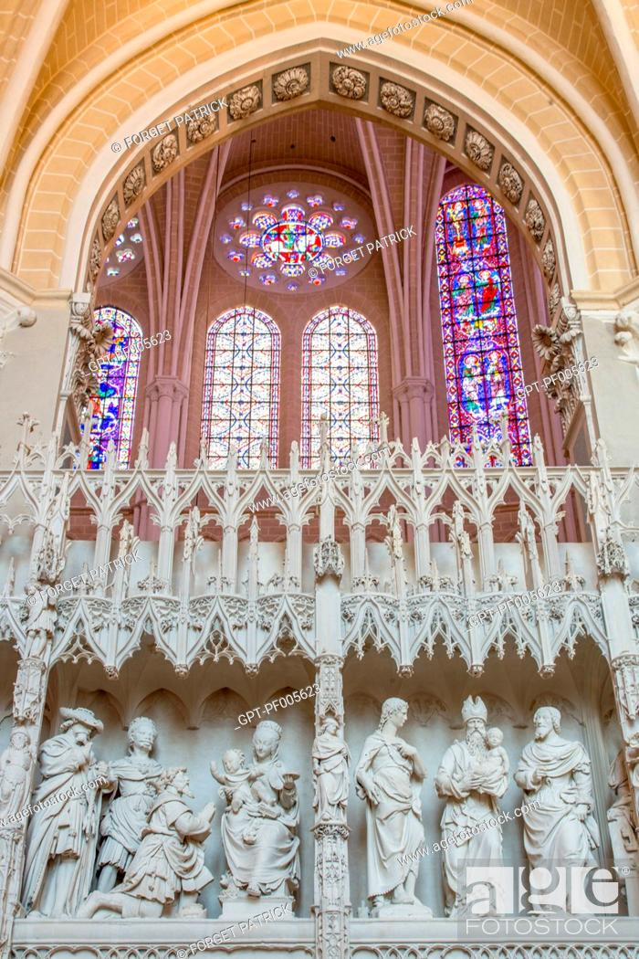 Imagen: ADORATION OF THE MAGI, THE RENOVATED CHOIR TOWER SEEN FROM THE SOUTH AMBULATORY, NOTRE-DAME CATHEDRAL, CHARTRES (28), FRANCE.