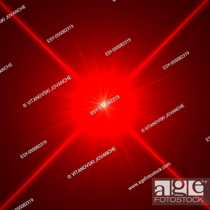 Stock Photo: star with lens flare and bokeh effect made in 3d software.