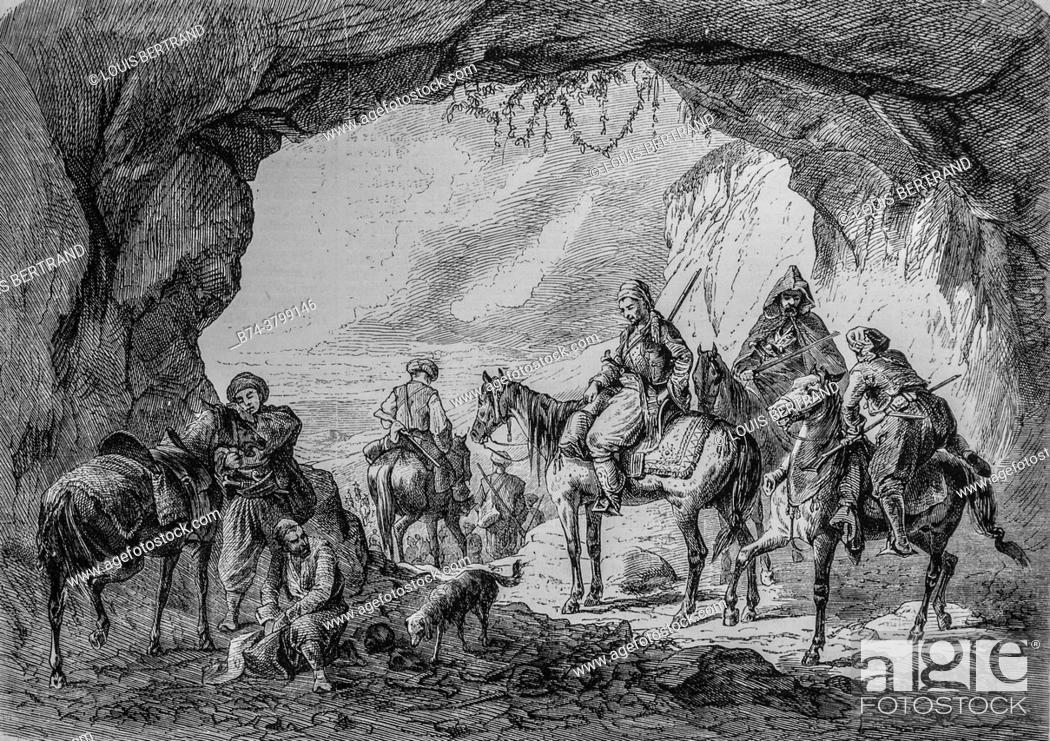 Photo de stock: a security escort in bosnia, the illustrious universe, publisher michel levy 1868.