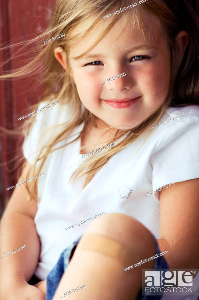 Stock Photo: Four years old caucasian girl.