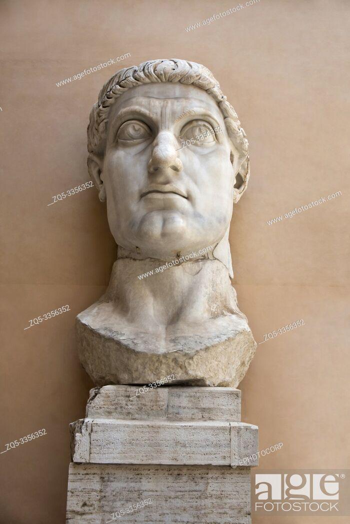 Stock Photo: Statue of Roman Emperor Constantine the Great, Capitoline Museum, Rome.
