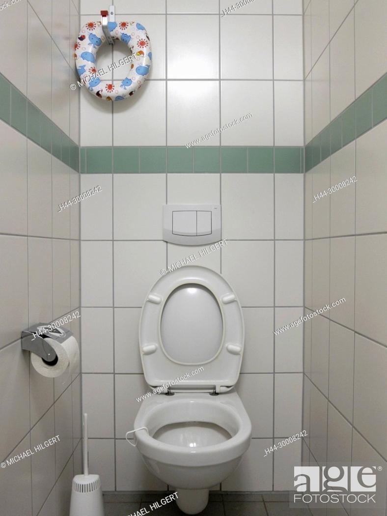 Order, public lavatory, Sönke-Nissen-Koog, Germany, Europe, Stock ...