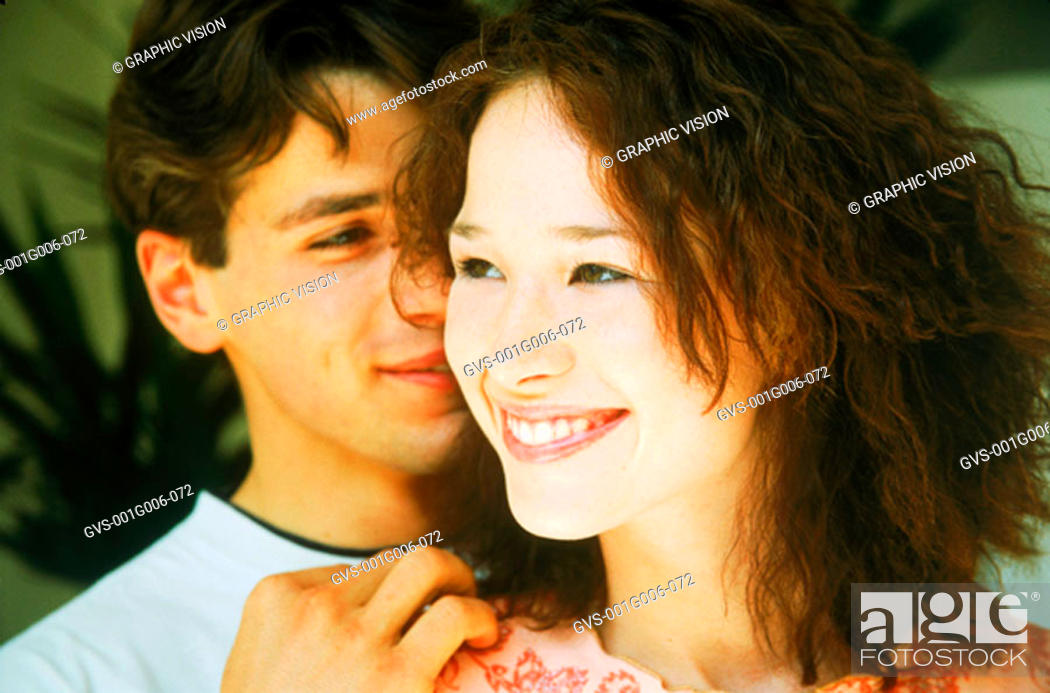 Stock Photo: Young couple smiling.