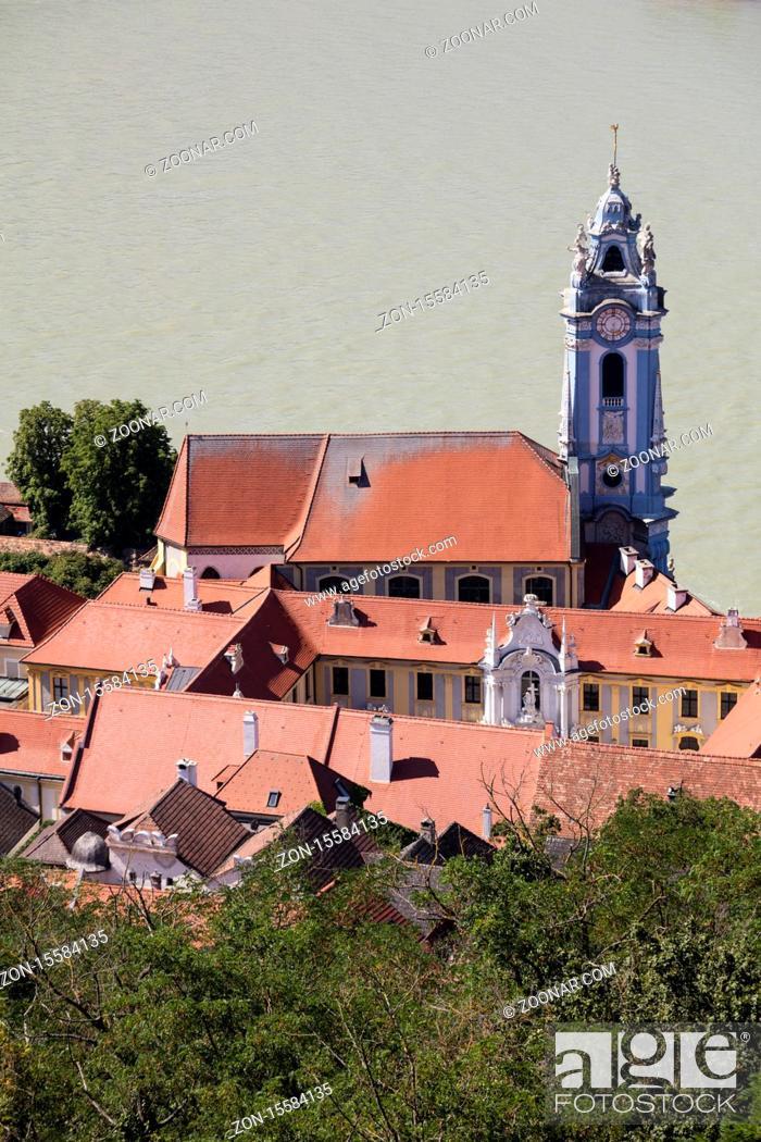 Stock Photo: Abbey Duernstein, Duernstein, Danube river, Wachau, Lower Austria, Austria, Europe.