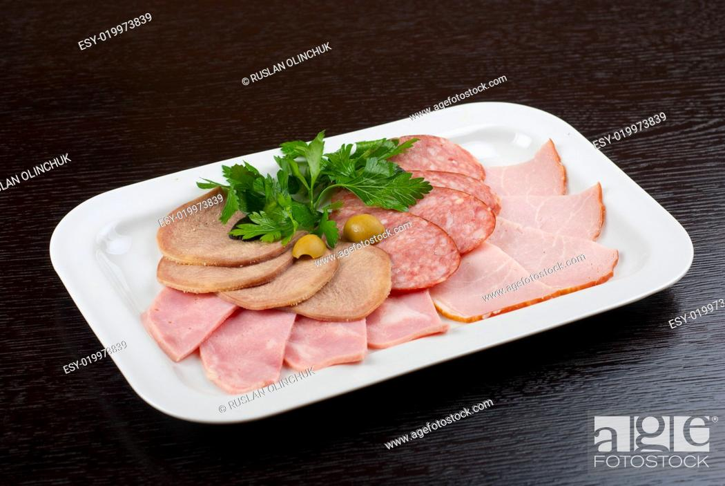 Stock Photo: Meat assortment.