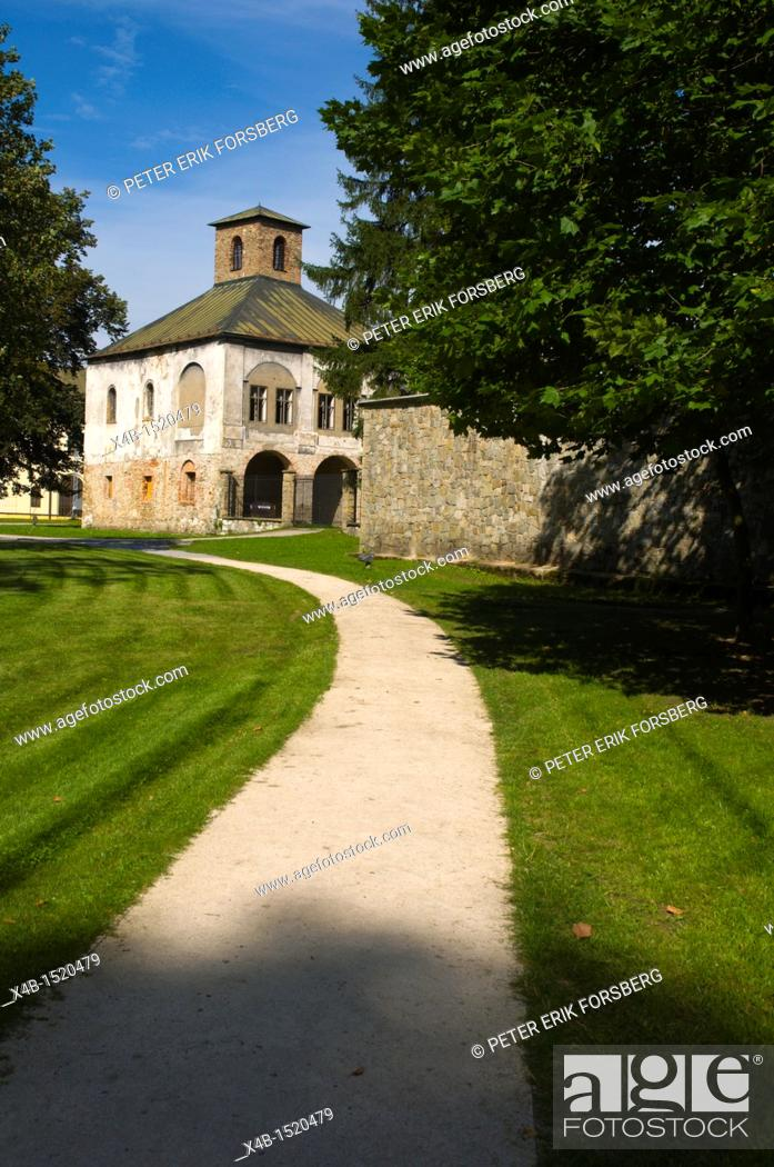 Stock Photo: Park around Budatinski Zamok the Budatin castle Žilina Slovakia Europe.