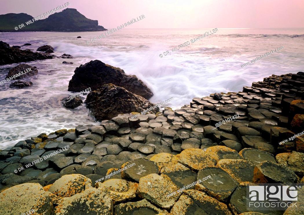 Stock Photo: Giant's Causeway, County Antrim, Northern Ireland, United Kingdom, Europe.