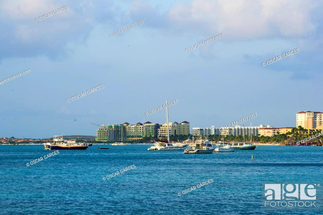 Stock Photo: City of Oranjestad, Aruba, Lesser Antilles, Central America.