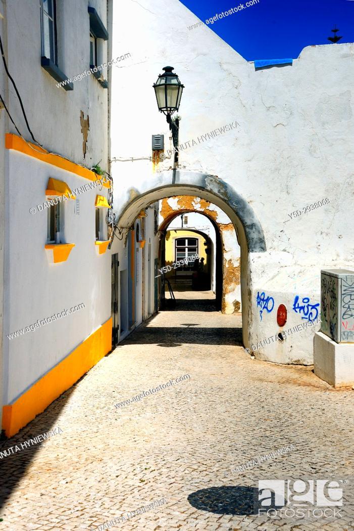 Stock Photo: Rua da Barroca, old town of Lagos, Algarve, portugal, Europe.