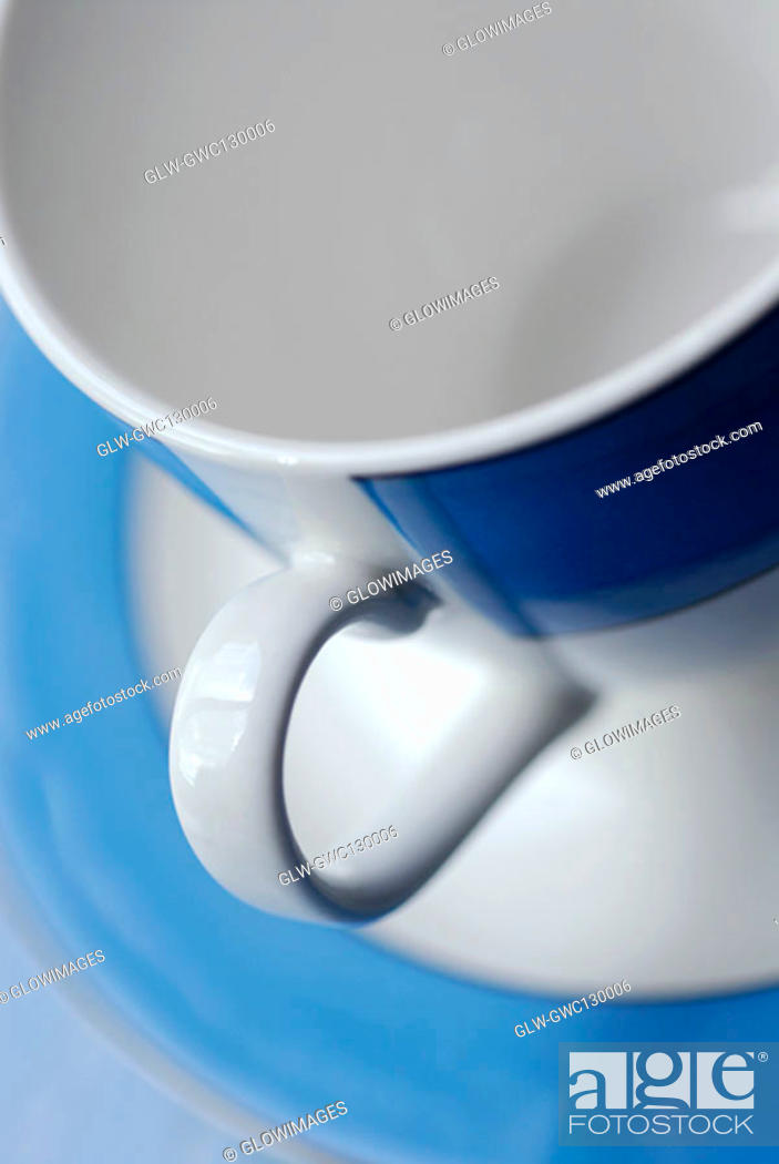 Stock Photo: Close-up of an empty cup on a saucer.