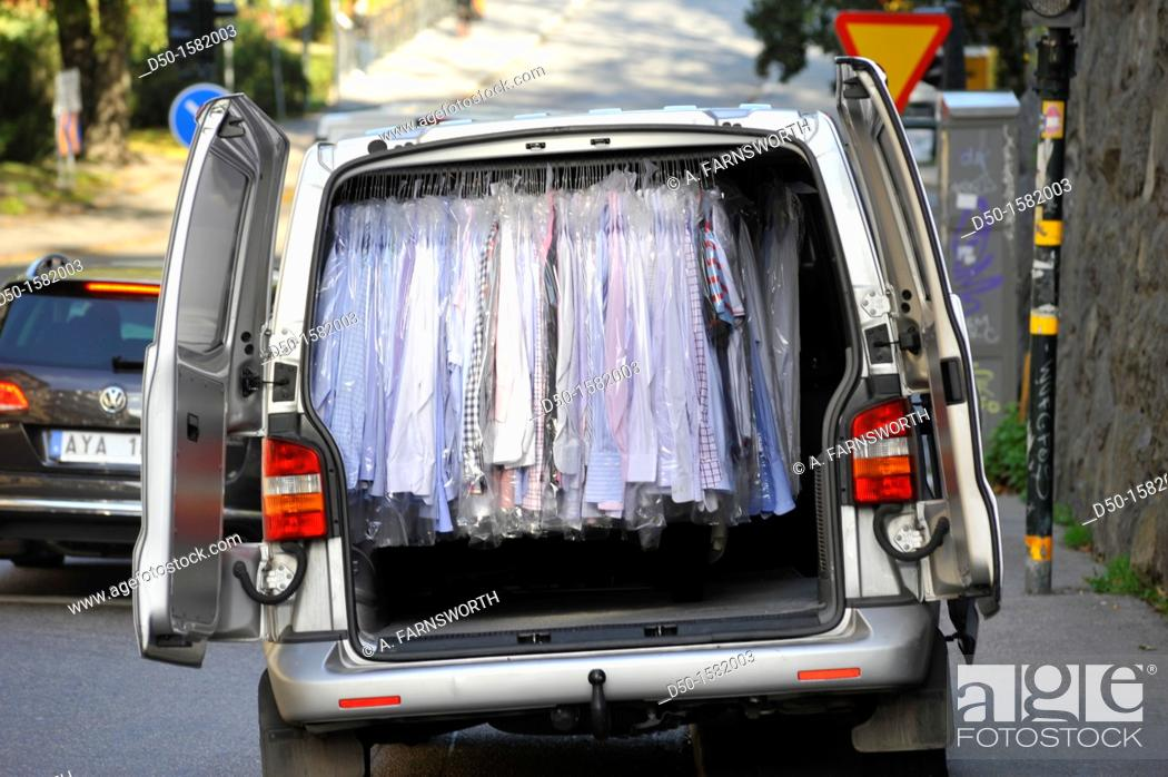 Stock Photo: STOCKHOLM SWEDEN Dry cleaning.