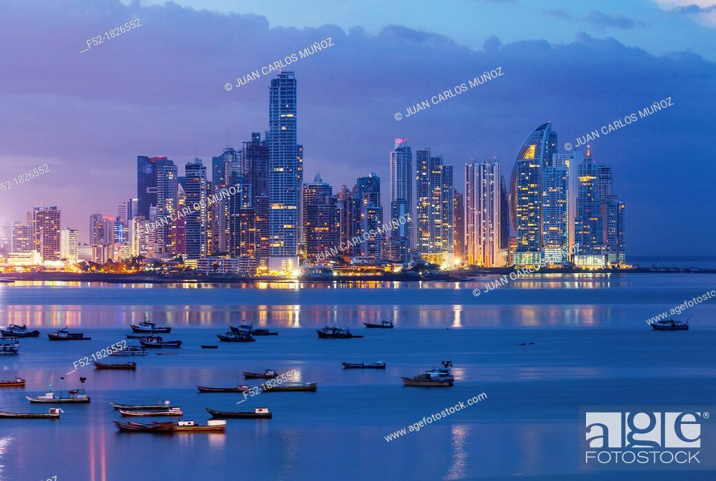 Stock Photo: Skyline, Panama City, Panama, Central America, America.