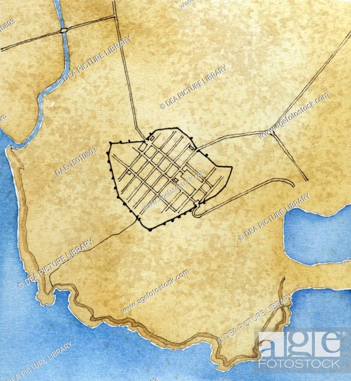 Map Of Italy Tuscany Region.Cartography Roman Civilization Map Of The Latin Colonia Of Cosa