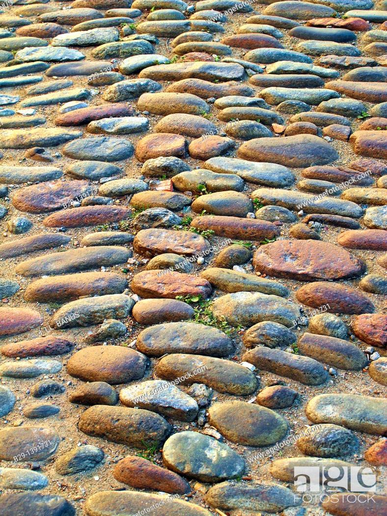 Stock Photo: Cobbled street.