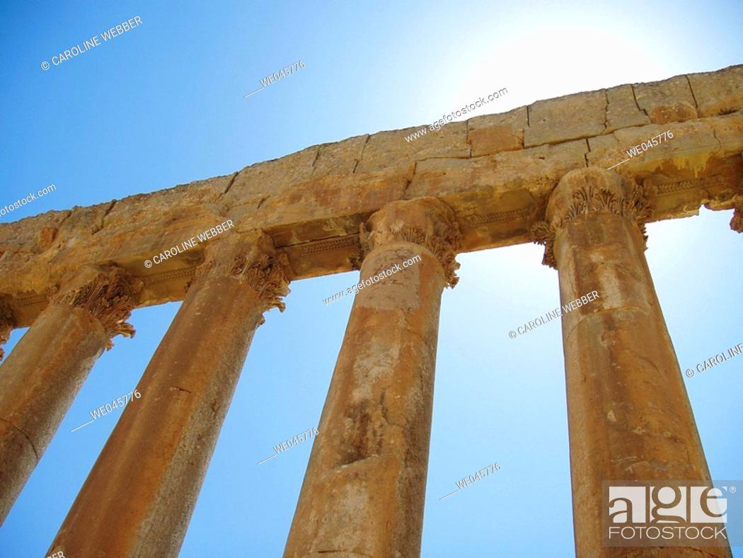 Stock Photo: Temple of Jupiter, Baalbek, Lebanon.
