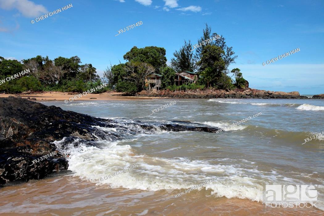 Stock Photo: Scenery of Pandan Beach, Lundu, Sarawak, Malaysia, Borneo.