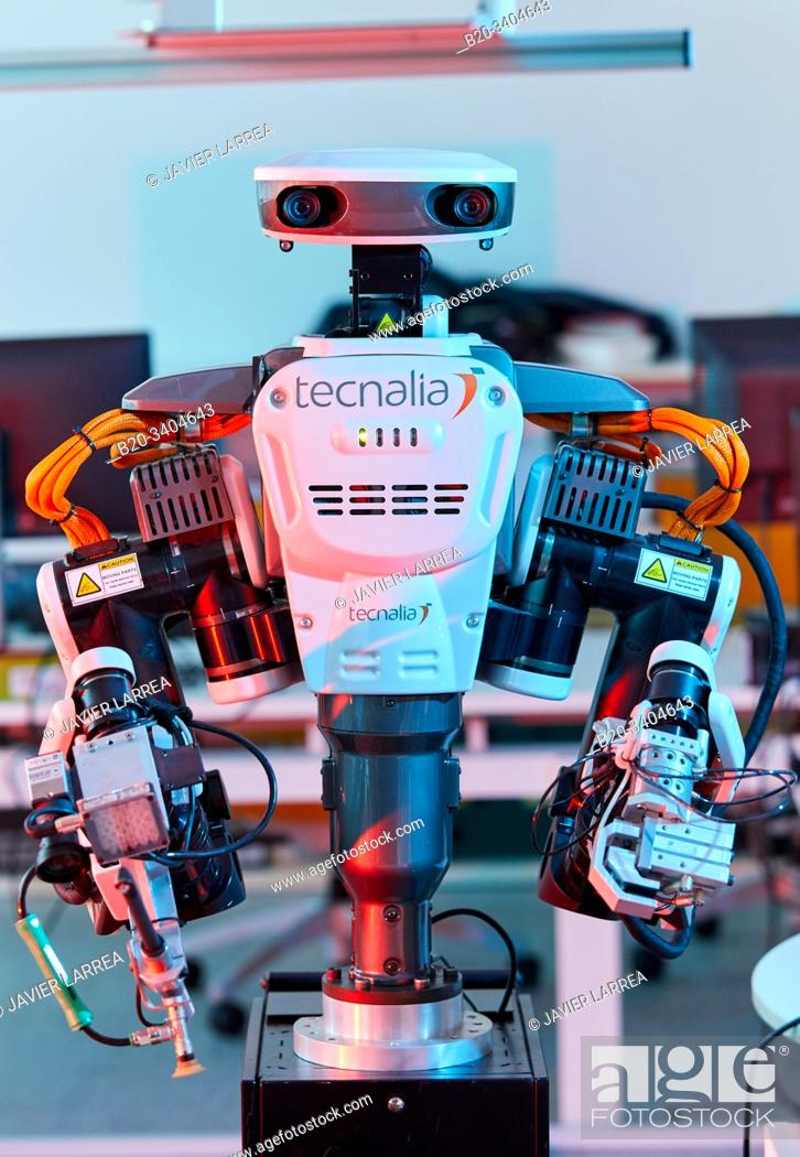 Stock Photo: Robot Autonomy for Flexible Manufacturing, Collaborative robotic, Advanced manufacturing Unit, Technology Centre, Tecnalia Research & Innovation, Donostia.