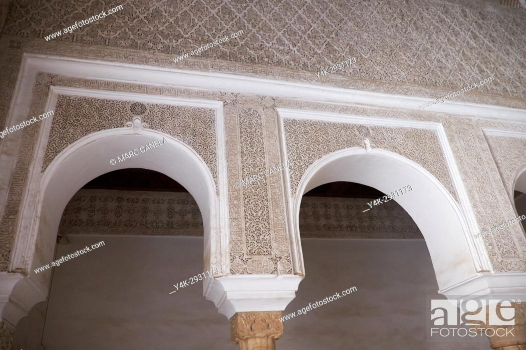 Stock Photo: Africa, Morocco, marrakech Saadian tombs.
