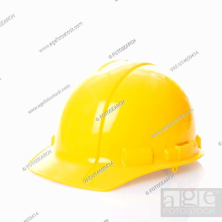 Stock Photo: Yellow safety hard hat.