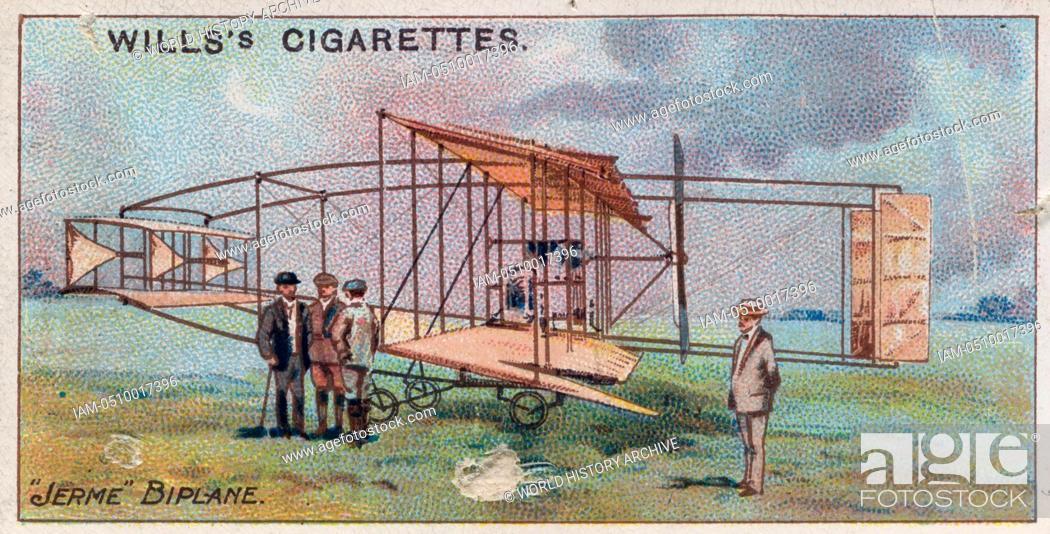 Stock Photo: Aviation, 1910: 'Jerme' Biplane, 1909.