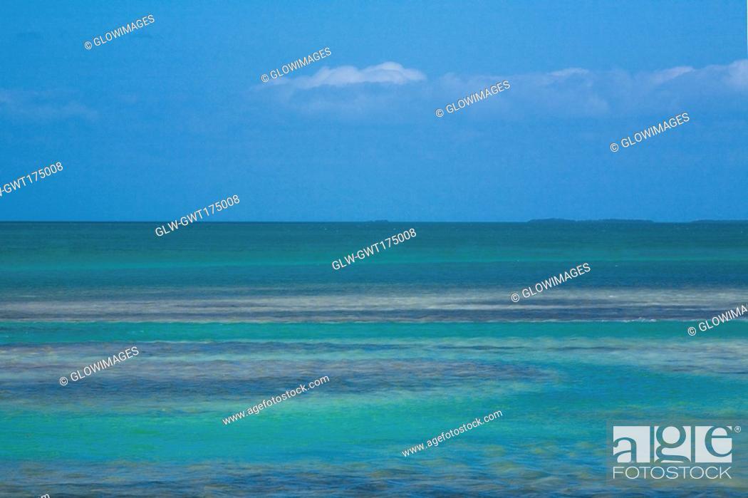 Stock Photo: Panoramic view of the sea, Florida Keys, Florida, USA.