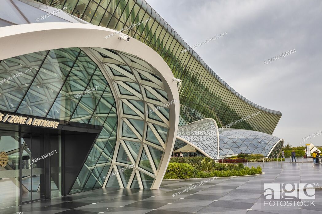 Stock Photo: Heydar Aliyev International airport, Baku, Azerbaijan.