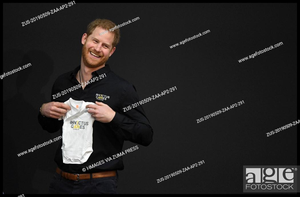 Stock Photo: May 9, 2019 - Hague, Hague, Netherlands - Image ©Licensed to i-Images Picture Agency. 09/05/2019. Hague, Netherlands. Prince Harry launching The fifth Invictus.