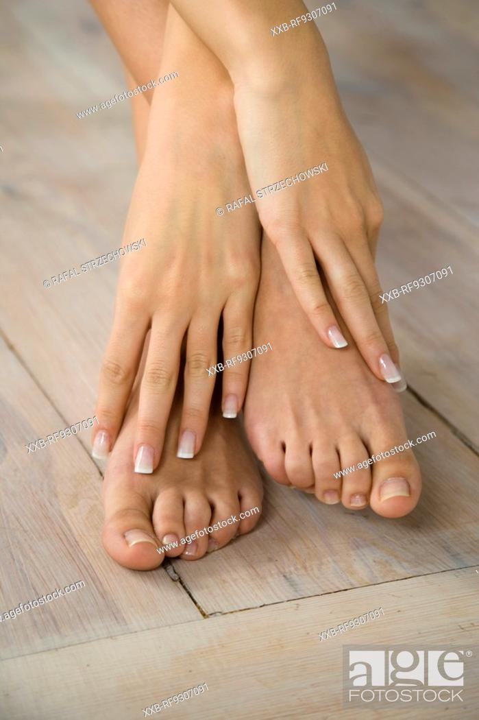 Stock Photo: close up of feet.