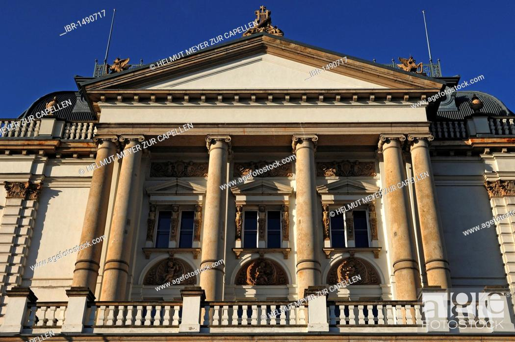 Part Of The Main Facade Schwerin Theater Neoclassical Style Dated