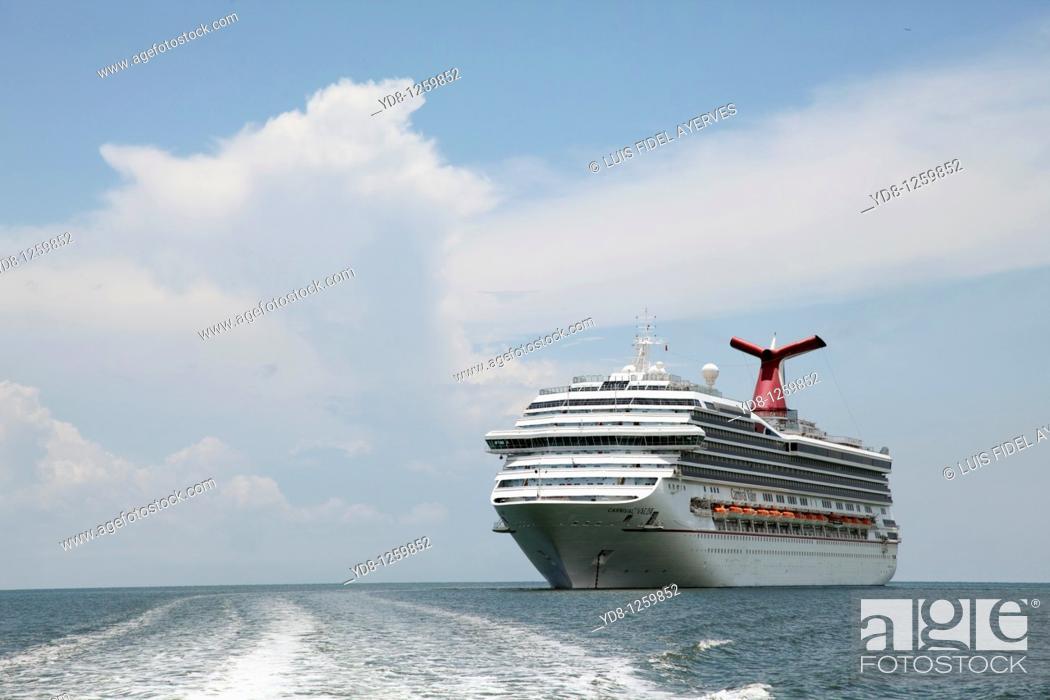 Stock Photo: Cruise ship.