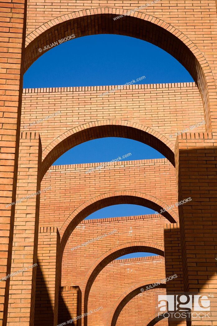 Stock Photo: Arches detail, FIBES conference centre, Seville Spain.