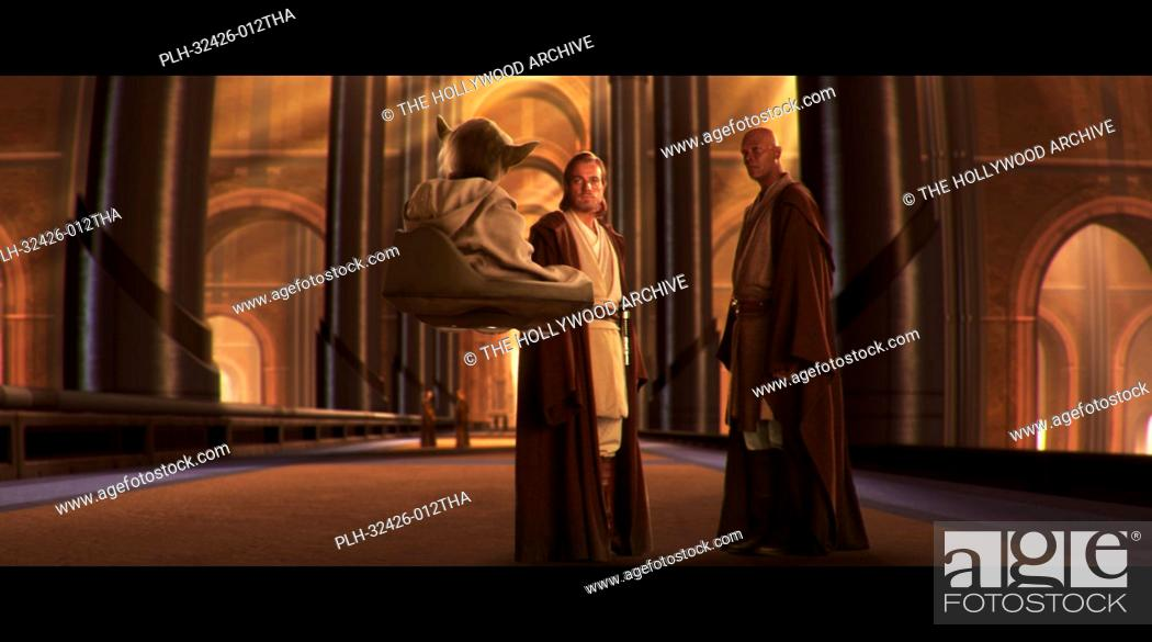 Stock Photo: Ewan McGregor, Samuel L. Jackson, 'Star Wars Episode II: Attack of the Clones' (2002).