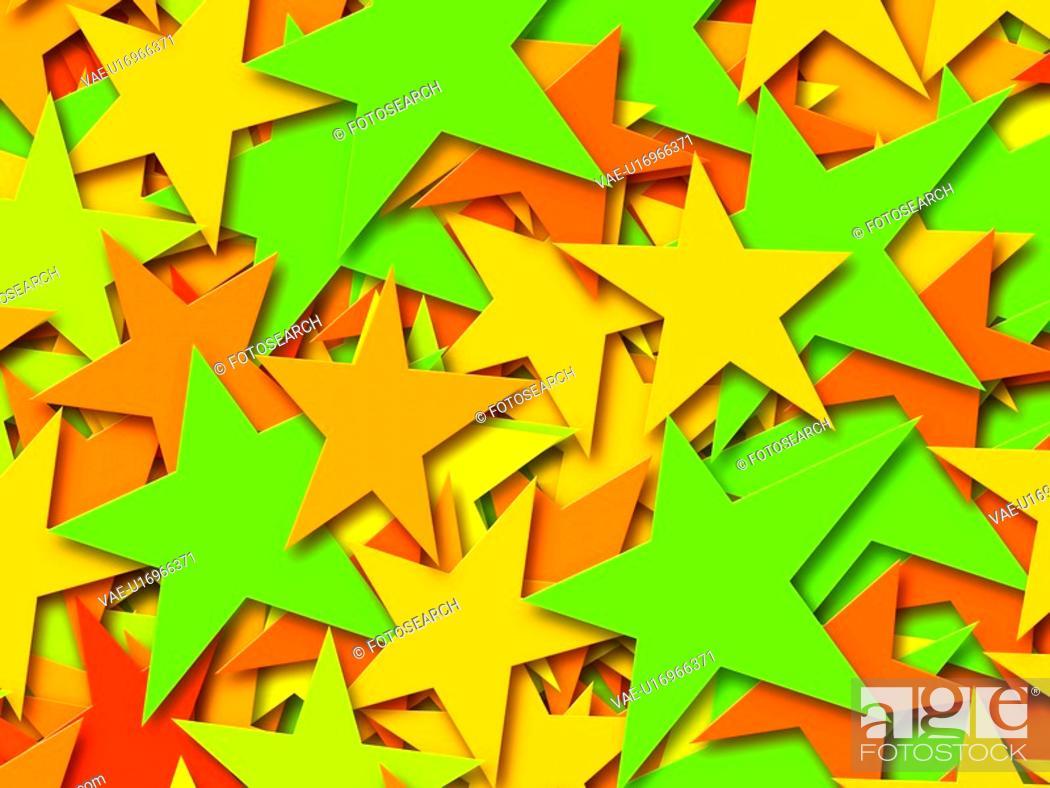 Stock Photo: Multi-Colored Stars.