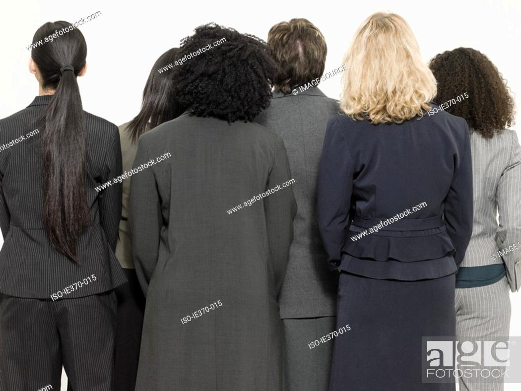 Stock Photo: Rear view of businesswomen.