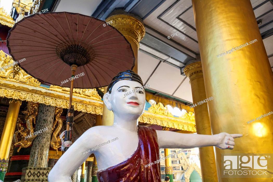 Asia, Myanmar, Burma, Yangon, Rangoon, Shwedagon, Shwe dagon