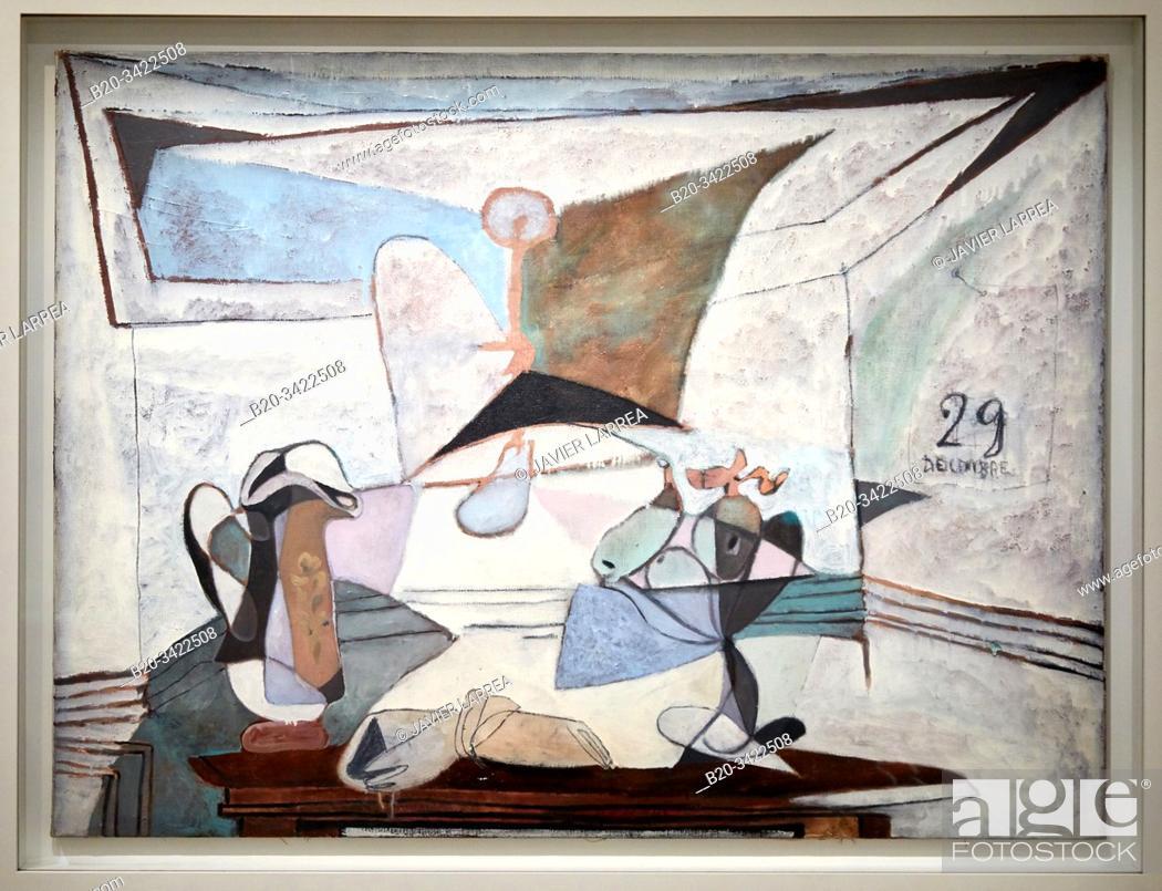 """Stock Photo: """"""""""""Nature morte à la lampe"""""""", 1936, Pablo Picasso, 1881-1973, Musée de l'Armée, Paris, France."""