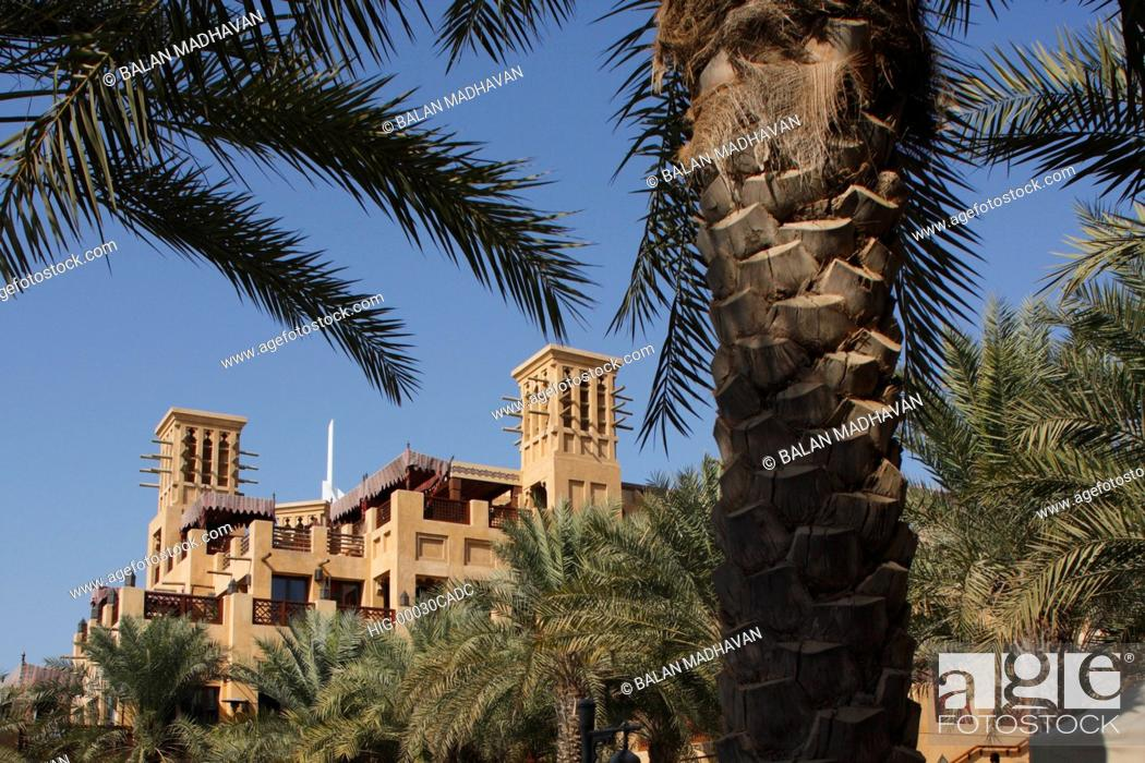 Stock Photo: MADINAT JUMEIRAH HOTEL IN DUBAI.