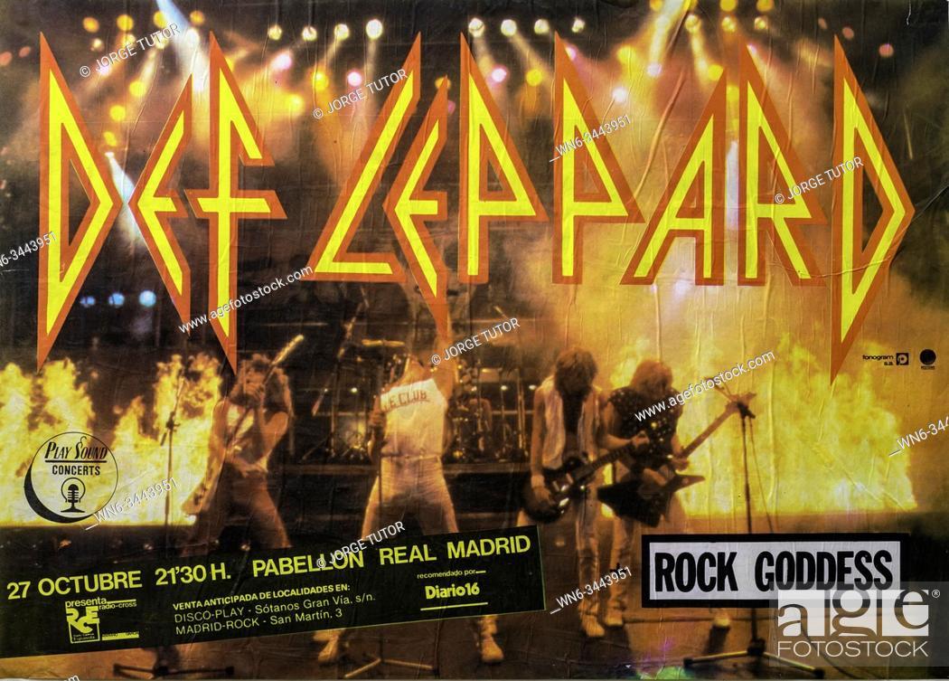 Imagen: Def Leppard Madrid tour, Musical concert poster.