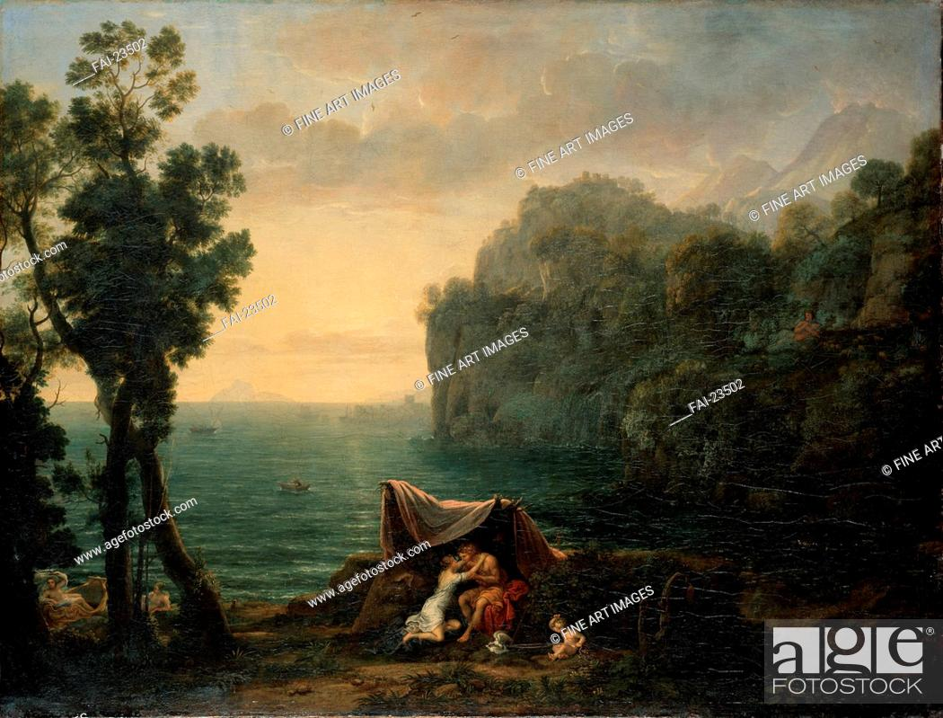 Stock Photo: Landscape with Acis and Galatea. Lorrain, Claude (1600-1682). Oil on canvas. Baroque. 1657. France. Dresden State Art Collections. 102,5x136.