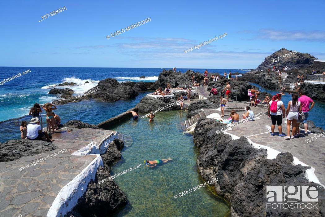 Imagen: Piscinas Naturales El Caleton, Garachico on the northern coast of Tenerife, Canary Islands, Spain, Europe.