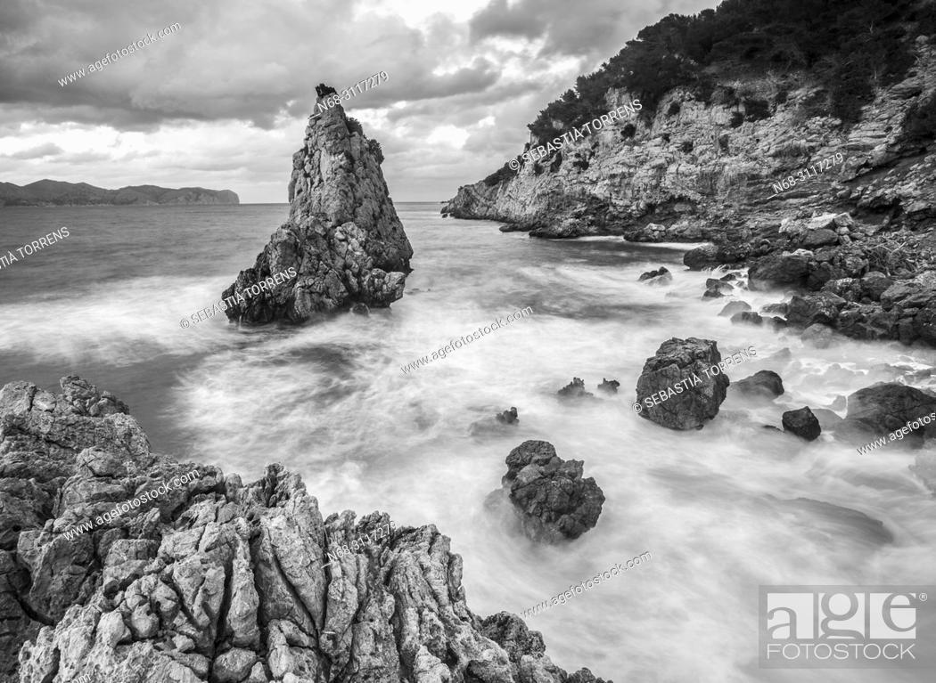 Stock Photo: Es Niu de s'Aguila, Alcudia coast, Mallorca, Spain.