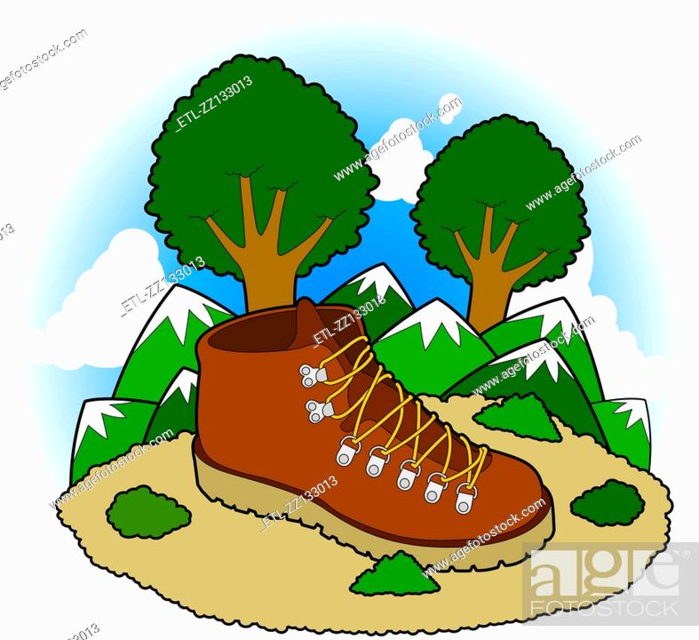 Stock Photo: Hiking boots.