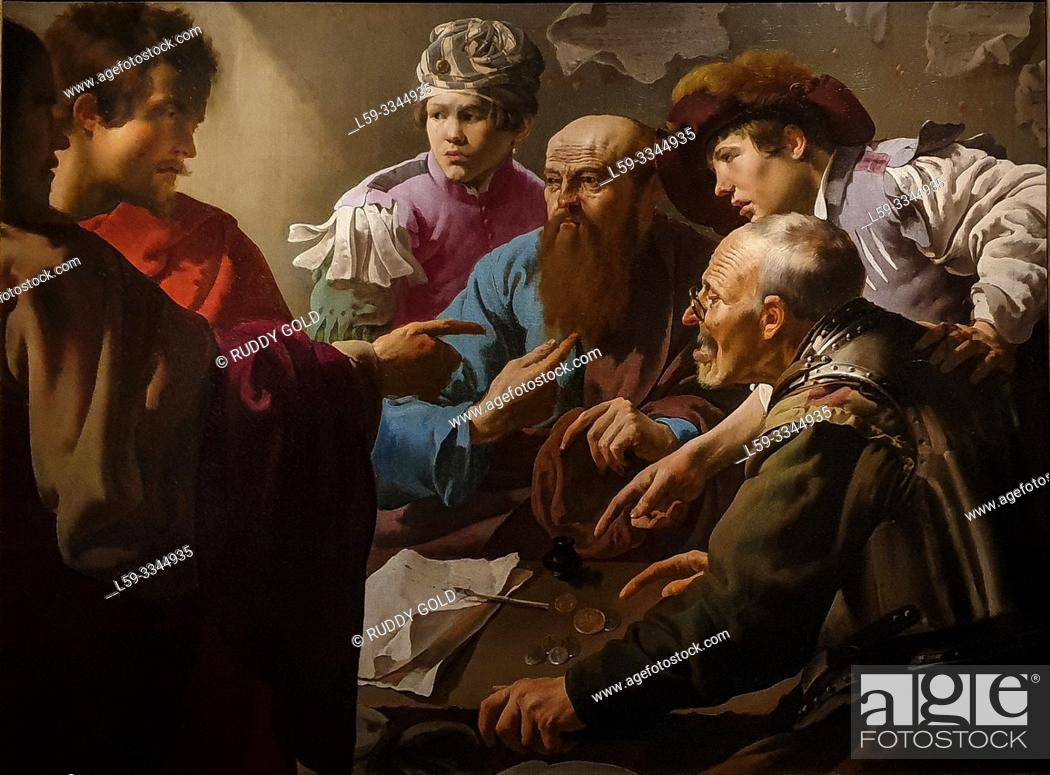 Stock Photo: 'The Calling of Saint Matthew', 1621, Hendrick ter Brugghen (1588-1629).